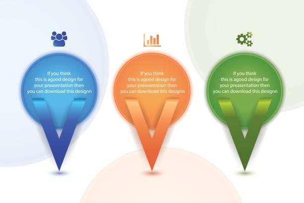 Colorful circular Info graph Design for business presentation vector art illustration
