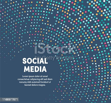 Social media template design with abstract background. Modern and geometric vector illustration to use as promotion web banners for social media.