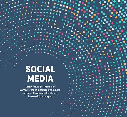 Colorful Circular Motion Illustration For Social Media clipart