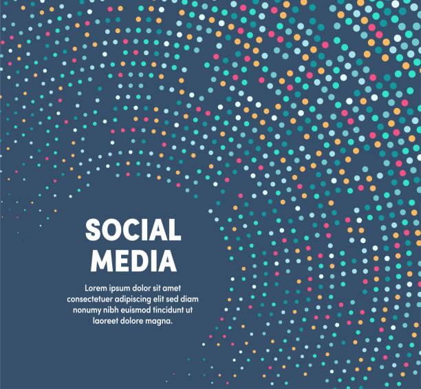 소셜 미디어를 위한 다채로운 원형 모션 일러스트레이션 - 개념 stock illustrations