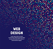 Web design template design with abstract background. Modern and geometric vector illustration to use as promotion web banners for social media.