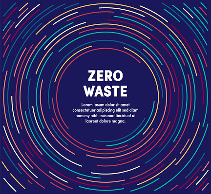Colorful Circular Motion Illustration For Zero Waste