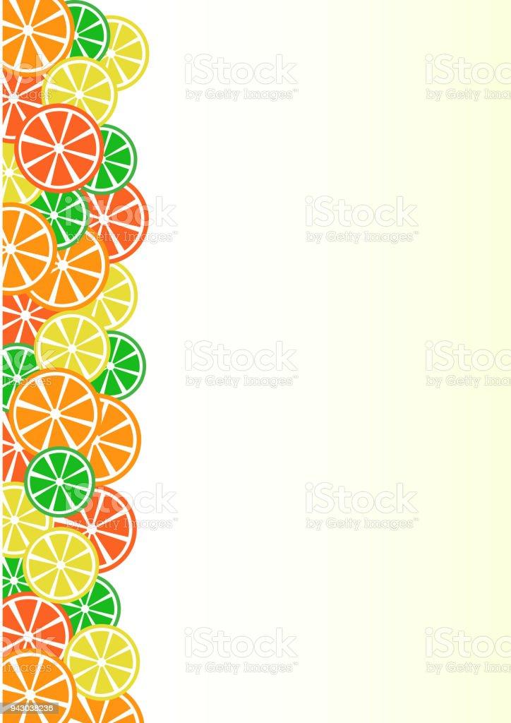 Ilustración de Colores Cítricos De Fondo Limón Limón Naranja Pomelo ...