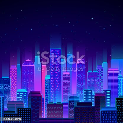 istock colorful city skyline at night 1065339328