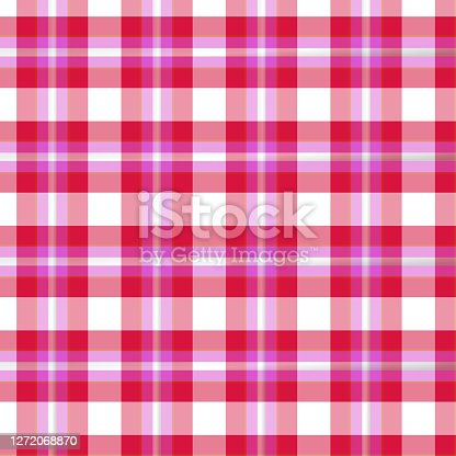 istock Colorful classic plaid tartan seamless squared pattern 1272068870