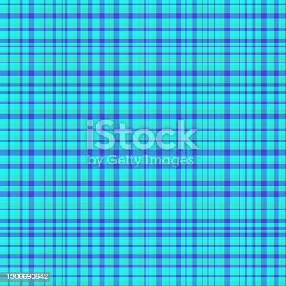 istock Colorful classic plaid tartan seamless squared pattern 1306690642