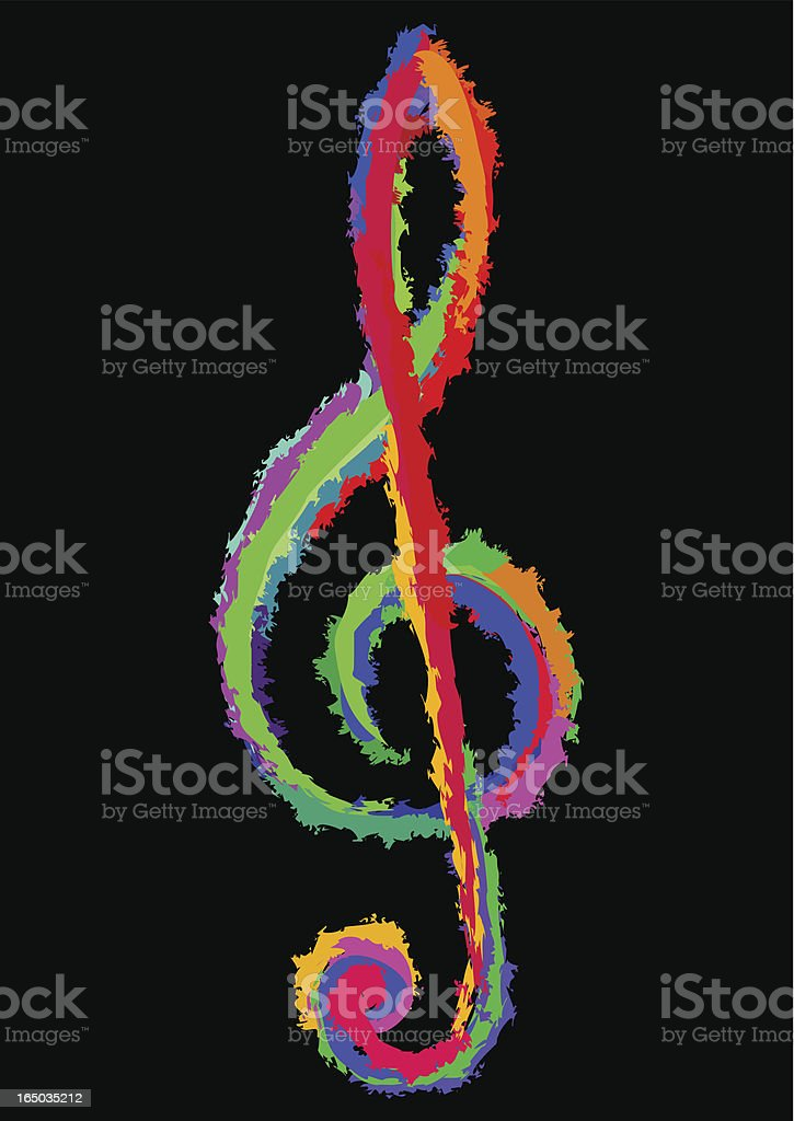 colorful clef vector art illustration
