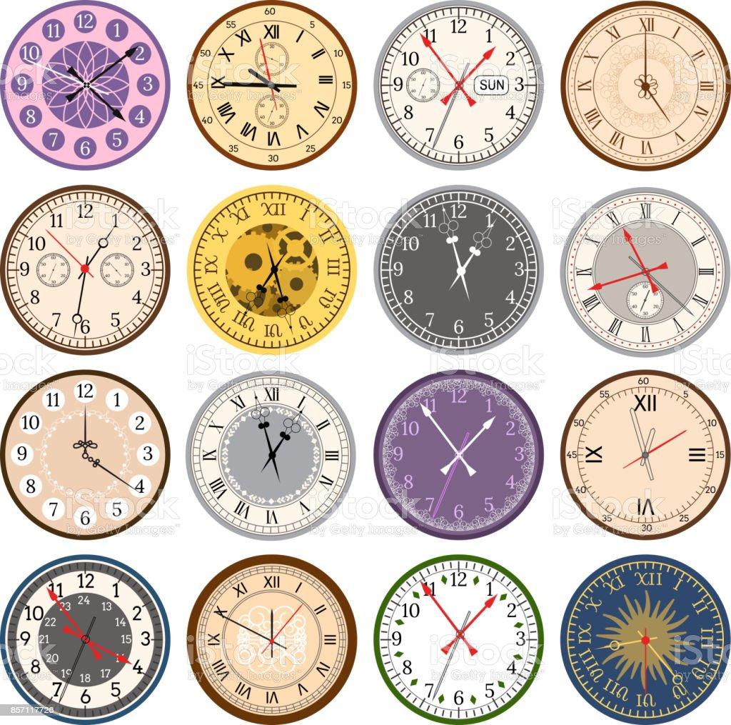 Uhr Modern bunte uhr gesichter vintage modern teile index zifferblatt uhr