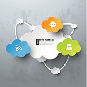 Cloud computing concept with icons.