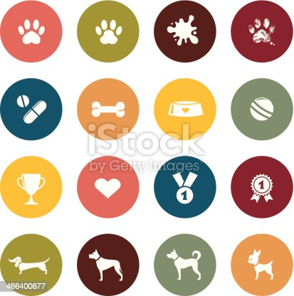 Dog pet icon collection