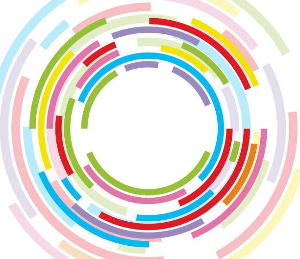 Colorful concentric circle File format is EPS10.0.  lens eye stock illustrations