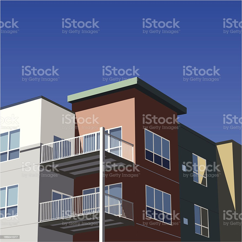 Colorful Condo (Vector) vector art illustration