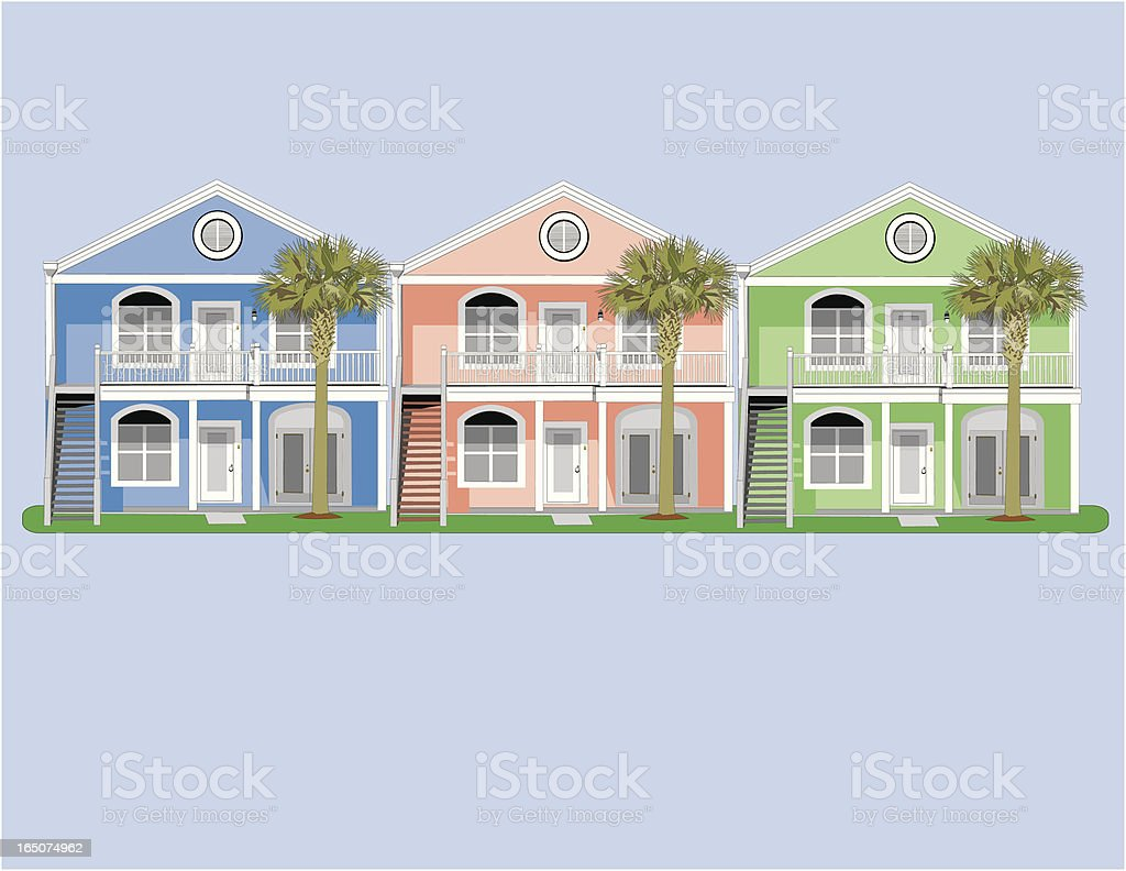 Colorful Condos royalty-free stock vector art