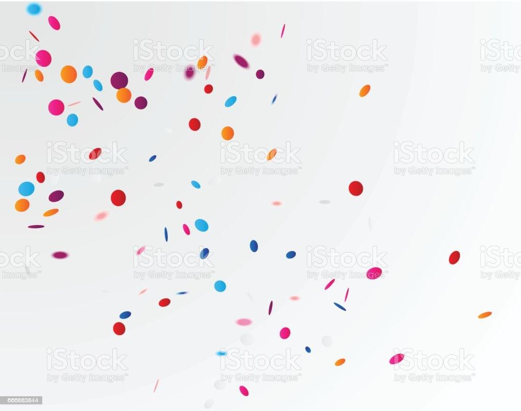 Colorful confetti background vector art illustration