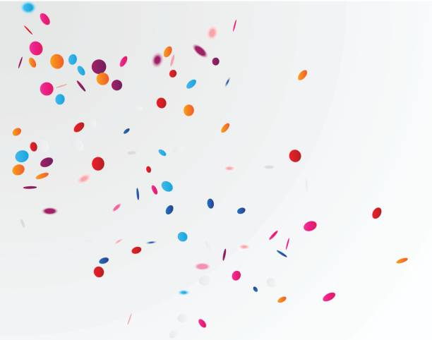 colorful confetti background - confetti stock illustrations
