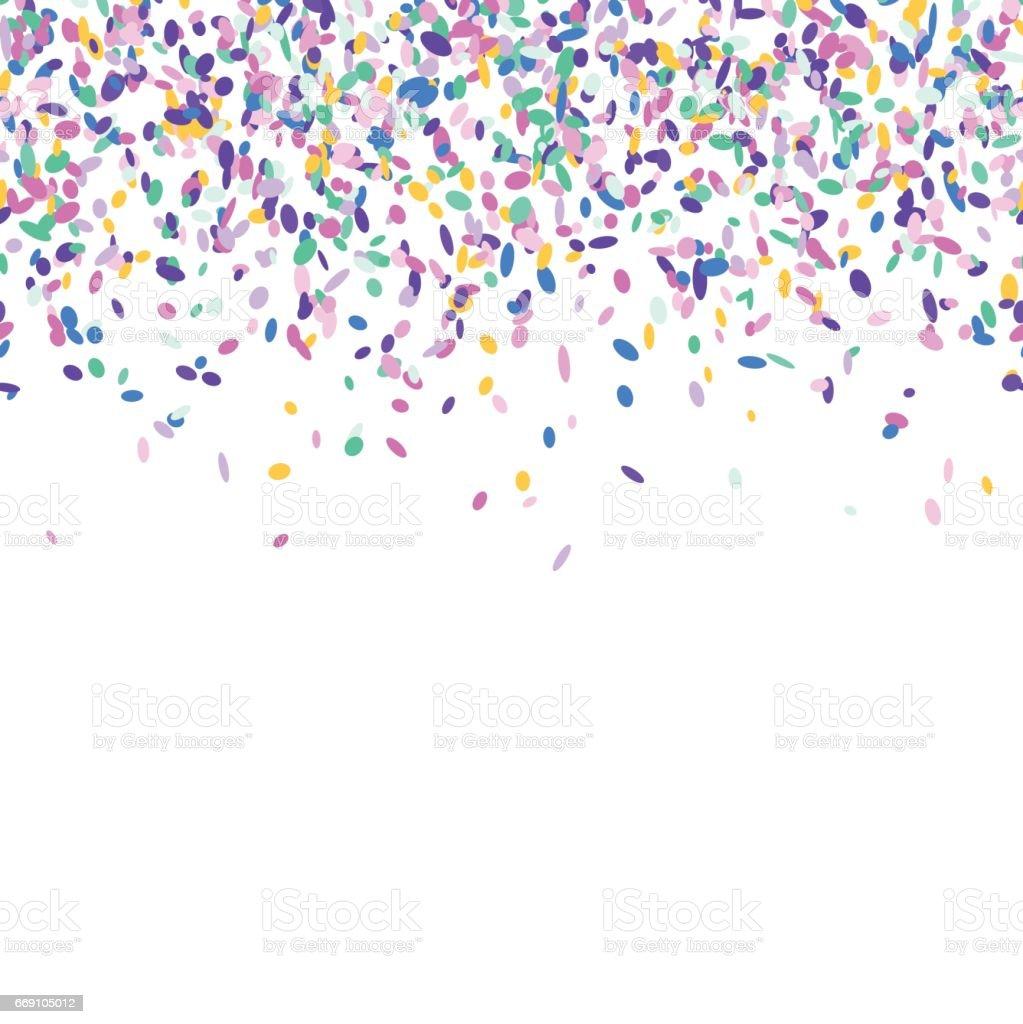 Colorful confetti background. vector art illustration