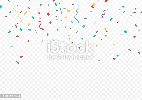 Vector Illustration of Colorful Confetti celebrations design isolated on transparent background  eps10