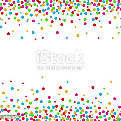 istock Colorful confetti dots on a white background 962070686