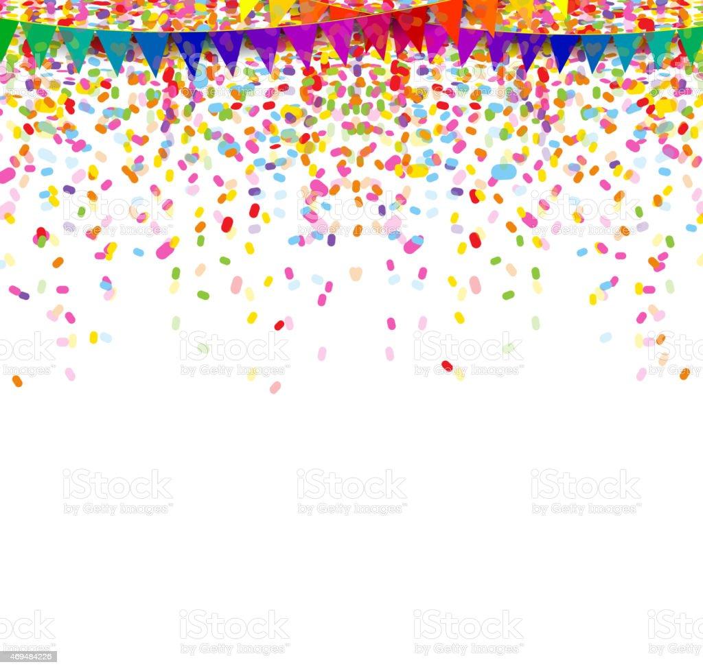 Colorati Coriandoli E Stelle Filanti Su Sfondo Bianco Immagini