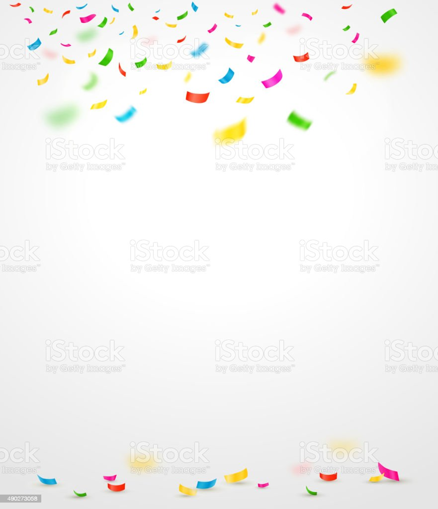 Colorful confetti. Vector illustration vector art illustration