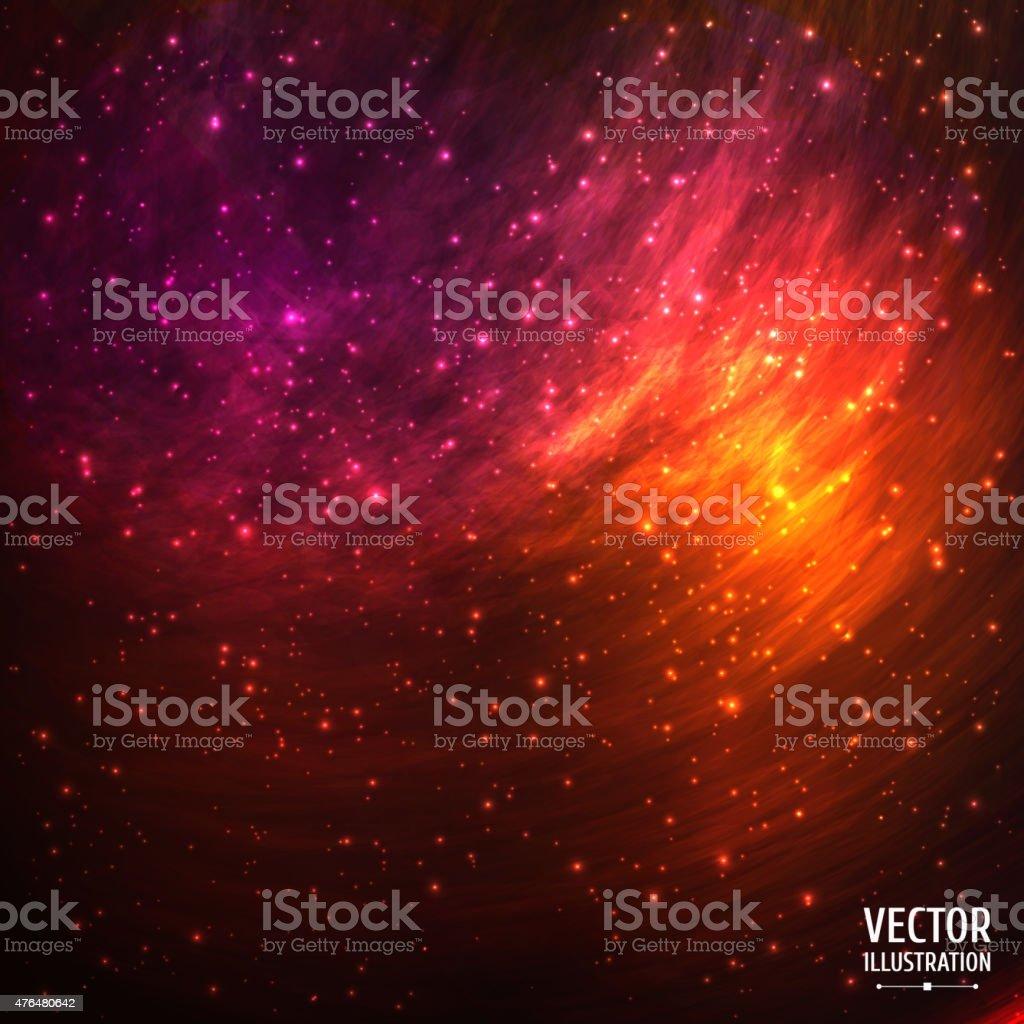 Bunte Cosmic Raum Galaxy Hintergrund mit hellen, funkelnden Sternen-das