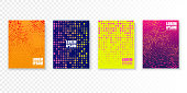 Colorful covers design in minimal style. Bright vector patterns isolated. Poster or flyer template.