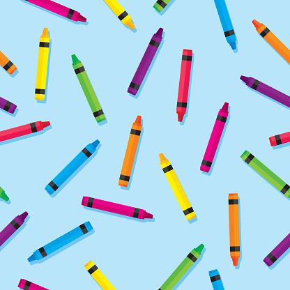 Colorful Crayon Pattern Flat 3
