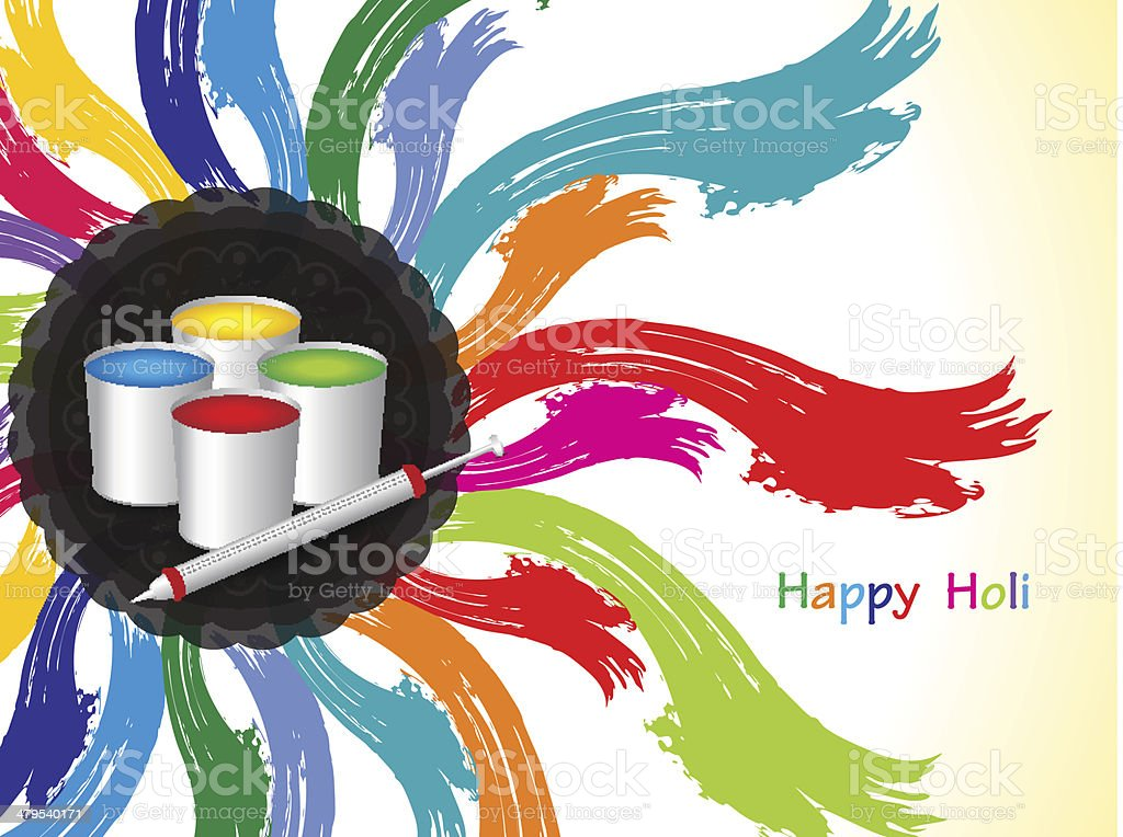 colorful creative background design for Indian festival Holi. royalty-free stock vector art