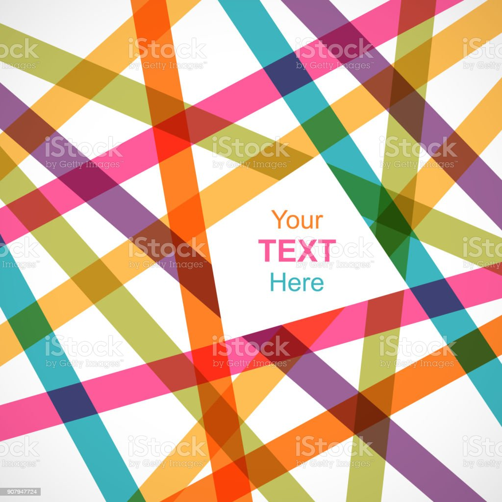 Colorful crossed lines abstract background vector art illustration