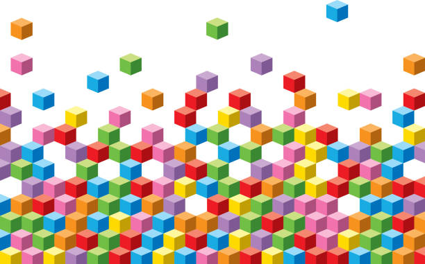 colorful cubes background - blocks stock illustrations, clip art, cartoons, & icons