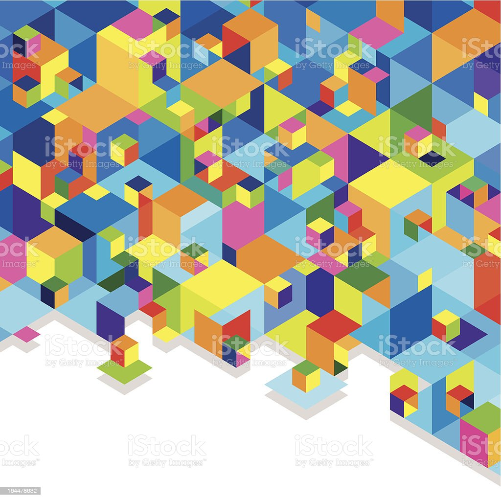 colorful cubes vector art illustration