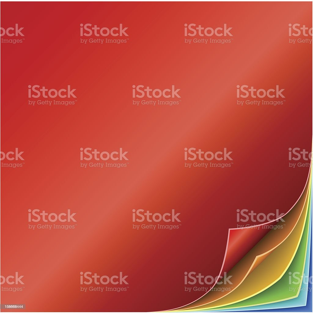 Colorful curled page corners royalty-free stock vector art