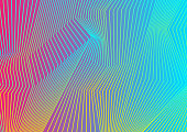 Colorful curved lines pattern design