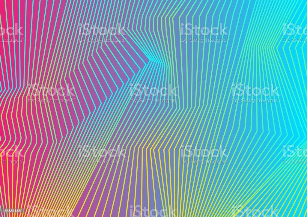 Bunte, geschwungene Linien-Muster-design – Vektorgrafik