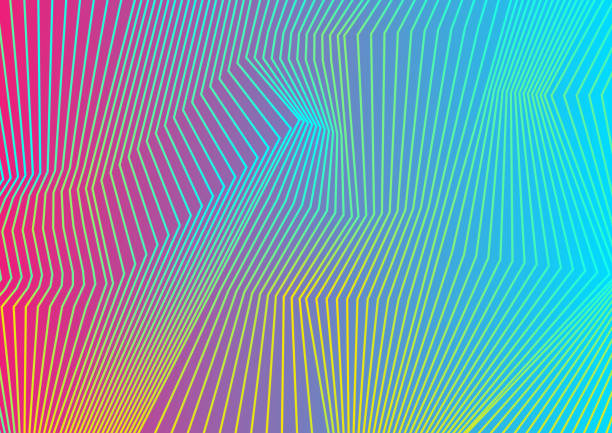 colorful curved lines pattern design - color image stock illustrations