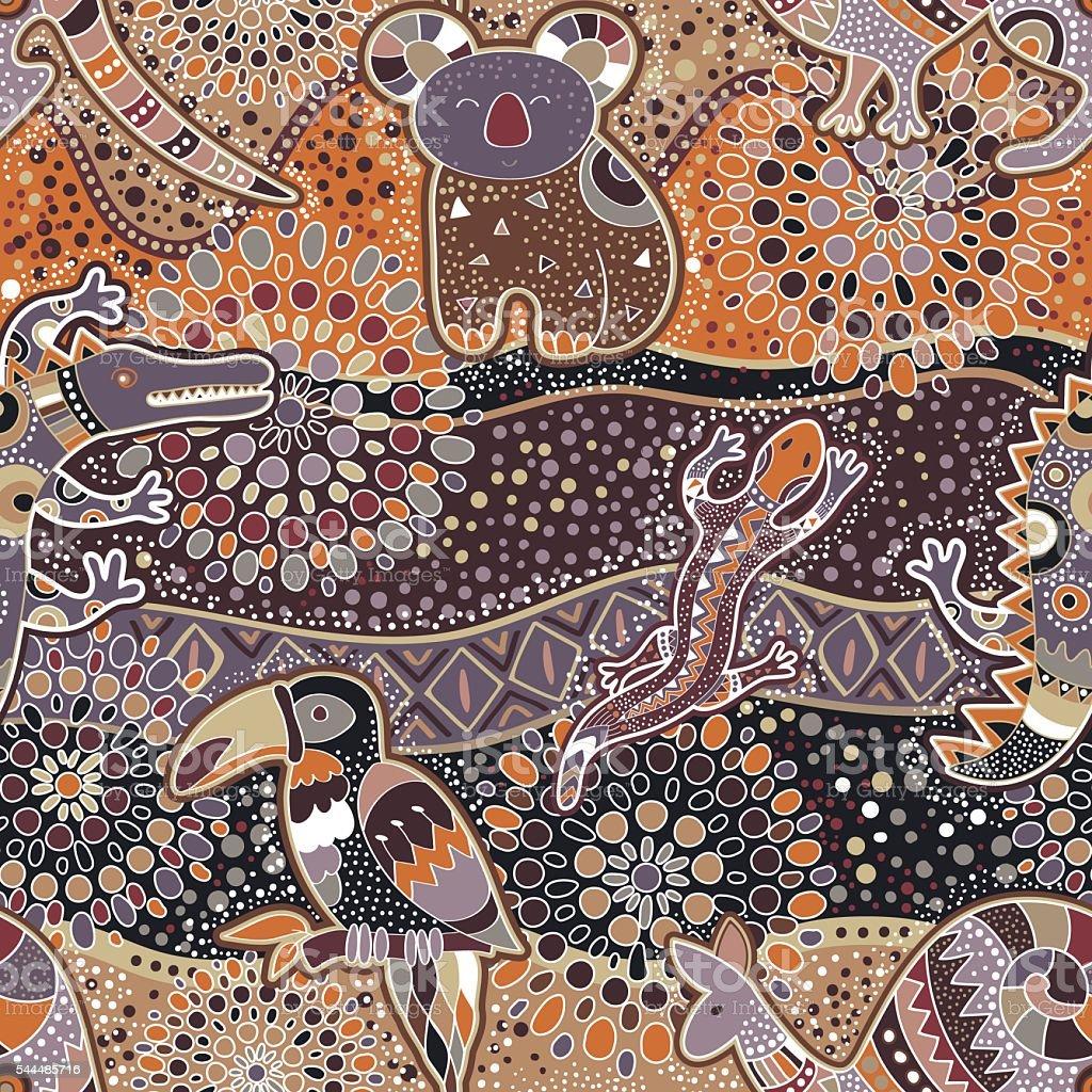 Colorful decorative pattern. Ethnic background vector art illustration
