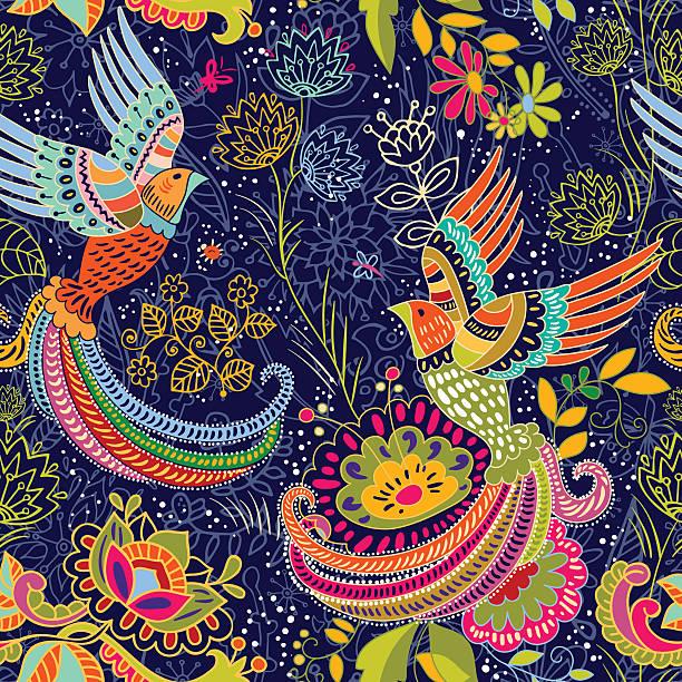 stockillustraties, clipart, cartoons en iconen met colorful decorative pattern. ethnic background - batik