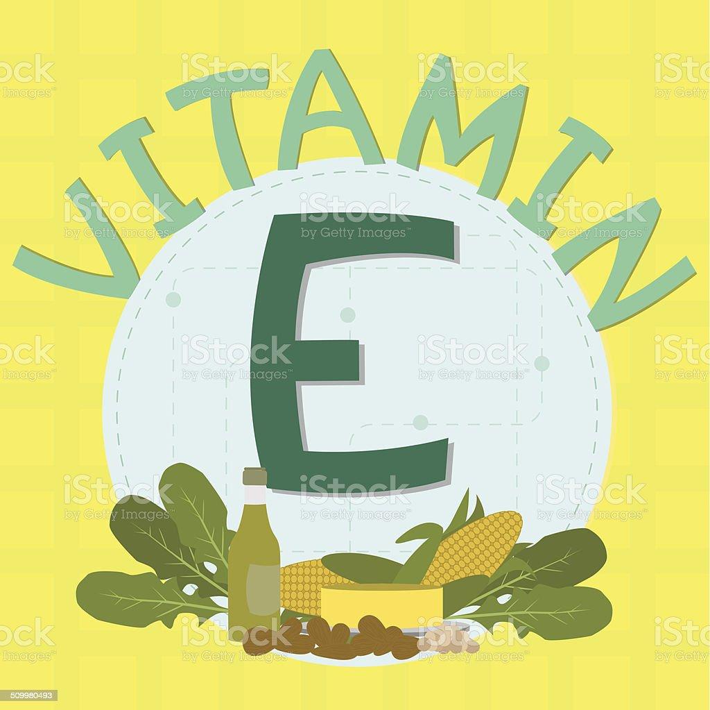 Colorful design of vitamin e vector art illustration
