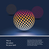 Abstract Colorful Spotted Globe Design Template in Editable Vector Format