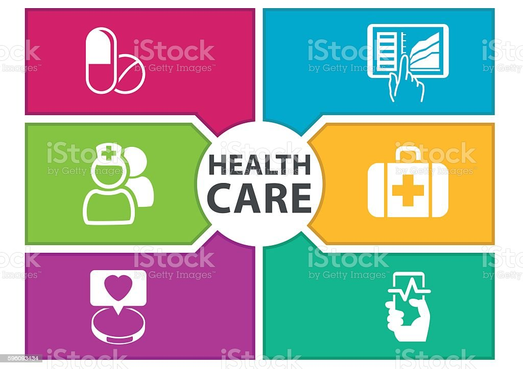Colorful digital healthcare background with icons royalty-free colorful digital healthcare background with icons stock vector art & more images of abstract