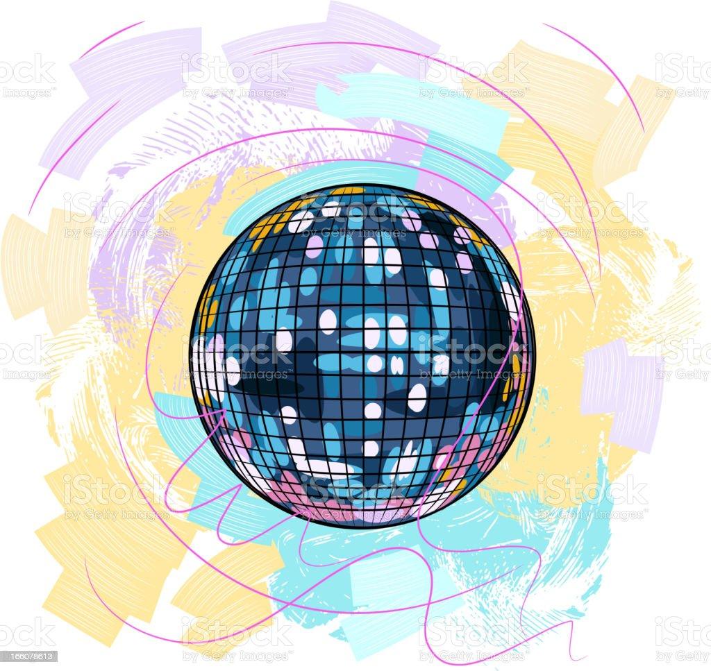 Colorful Disco ball royalty-free stock vector art