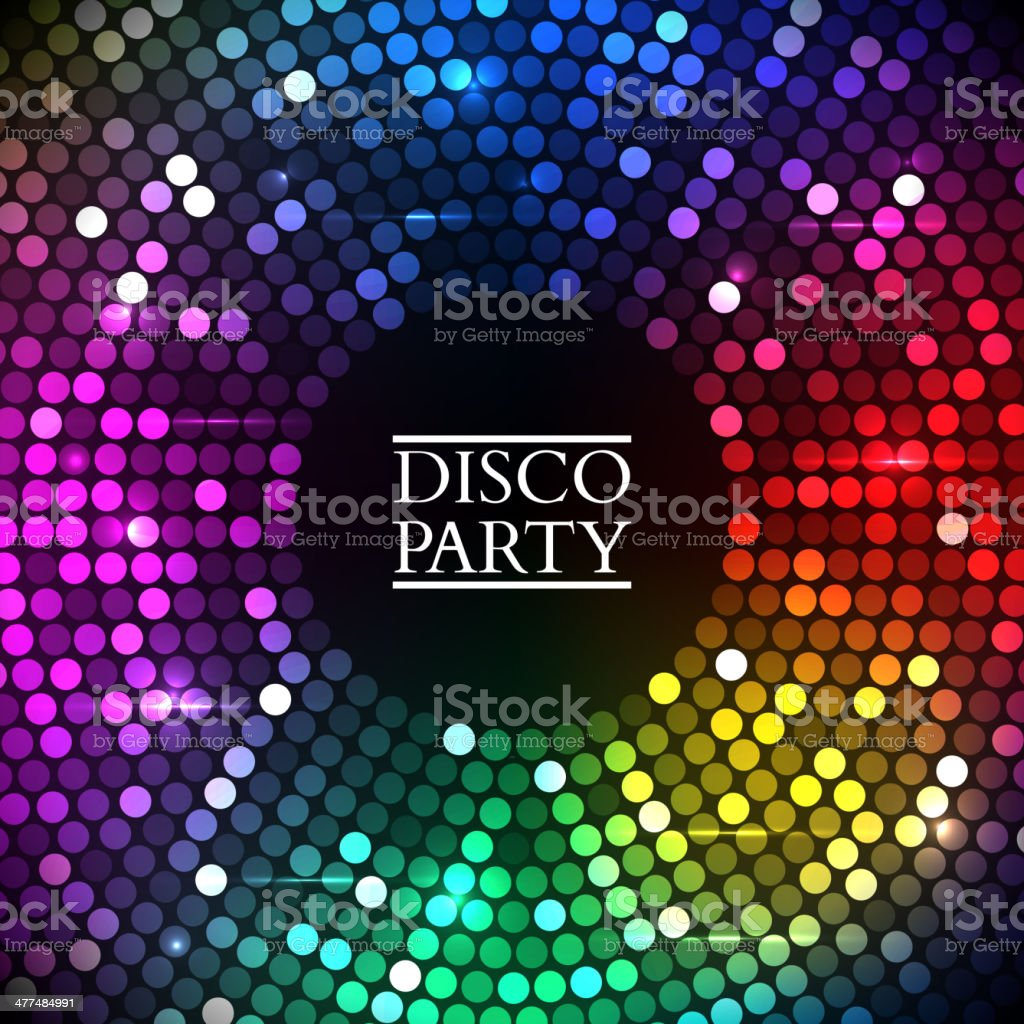 Colorful disco lights. Vector vector art illustration