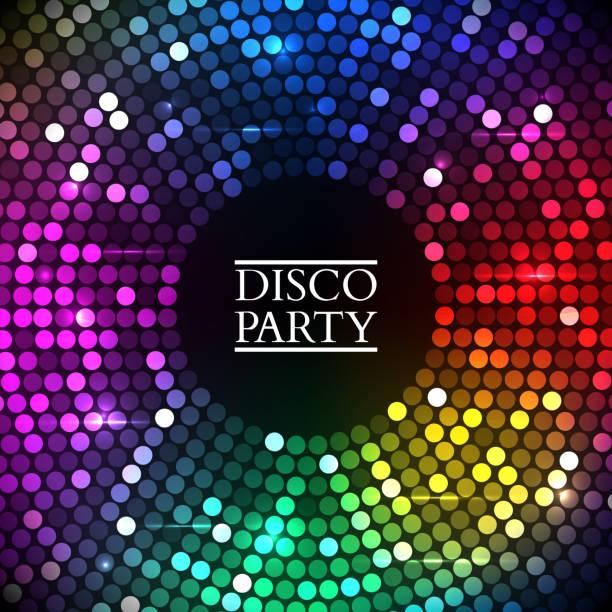 bildbanksillustrationer, clip art samt tecknat material och ikoner med colorful disco lights. vector - dansa disco