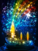 Beautiful and Colorful Diwali Celebration Background.Each element in a separate layers.Very easy to edit vector EPS10 file.It has transparency layers with blend effects.