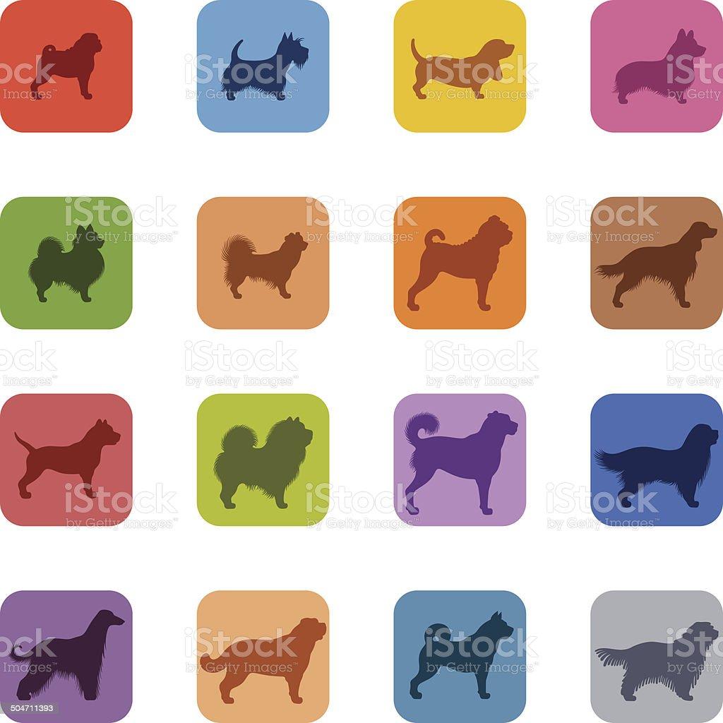 Na psy ikony zestaw – artystyczna grafika wektorowa