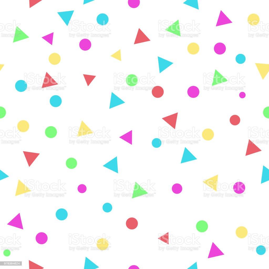 Ilustración de Colores Punto Y Triángulo De Patrones Sin Fisuras De ...