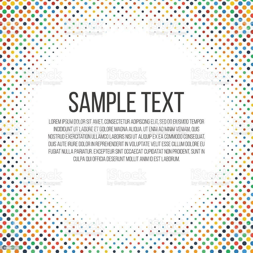 Colorful dots frame royalty-free colorful dots frame stock vector art & more images of abstract