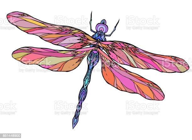 Colorful dragonfly illustration with boho pattern vector id851448900?b=1&k=6&m=851448900&s=612x612&h=ystni6ctu9k0yejp3ikibc0wmyuaqxieu kbrtipceg=