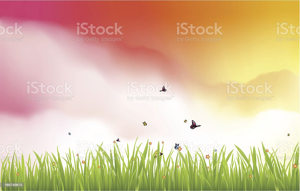Colorful Dream Scene royalty-free colorful dream scene stock vector art & more images of backgrounds