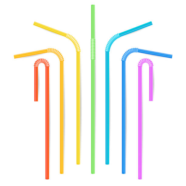 Royalty free bendy straw clip art vector images for Plastic straw art